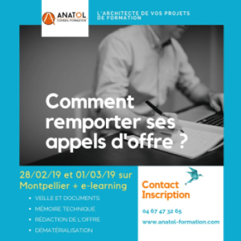formation appels d'offre ANATOL Formation